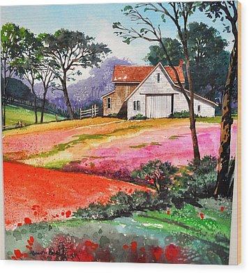 Primrose Farm Wood Print