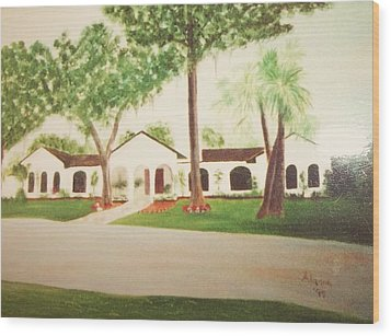 Prince Faisal's Home In Fl Wood Print by Alanna Hug-McAnnally