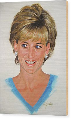 Princess Diana Wood Print