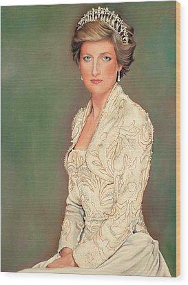 Princess Diana Wood Print by Douglas Fincham