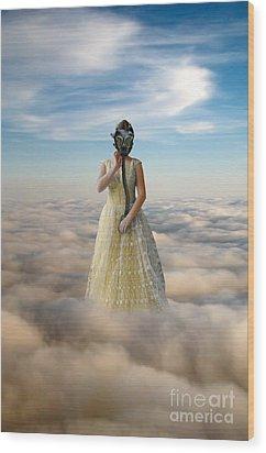 Princess In Gas Mask 3 Wood Print by Jill Battaglia