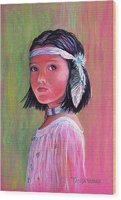 Princess Of The Plains Wood Print by Tanja Ware