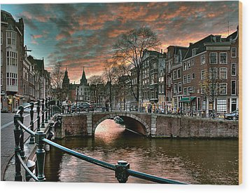 Prinsengracht And Reguliersgracht. Amsterdam Wood Print by Juan Carlos Ferro Duque