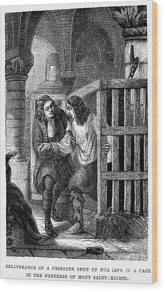Prison: Cage, 17th Century Wood Print by Granger