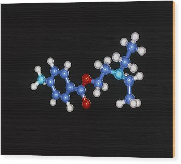 Procaine Anaesthetic Molecule Wood Print by Laguna Design