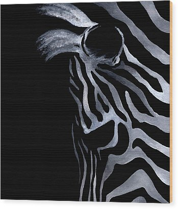Profile Of Zebra Wood Print by Natasha Denger
