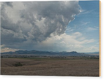 Wood Print featuring the photograph Promises Of Rain by Fran Riley