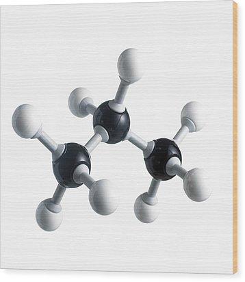 Propane Molecule Wood Print by