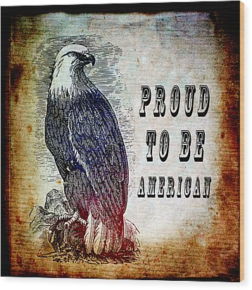 Proud Wood Print by Angelina Vick