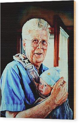 Proud Grandpa Wood Print by Hanne Lore Koehler
