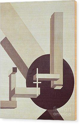 Proun 10 Wood Print by El Lissitzky