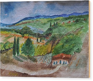 Provence Colors Wood Print by MaryAnne Ardito