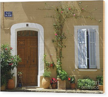 Wood Print featuring the photograph Provence Door 3 by Lainie Wrightson