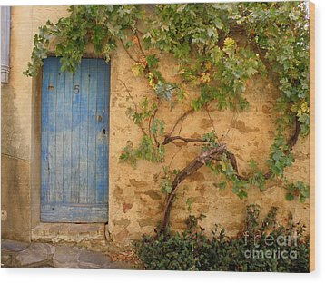 Wood Print featuring the photograph Provence Door 5 by Lainie Wrightson
