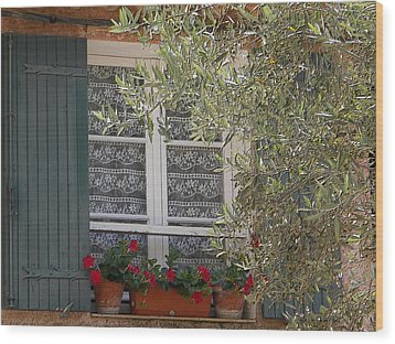 Provensale Window Wood Print