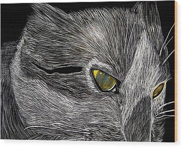 Prowl Wood Print by Lisa Brandel