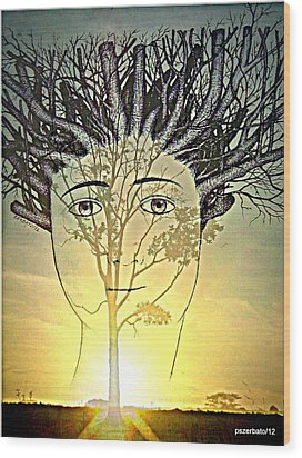 Prune Early All The Questions Wood Print by Paulo Zerbato