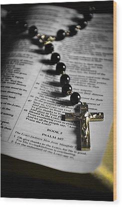 Psalm 107 Wood Print by Anthony  Birchman