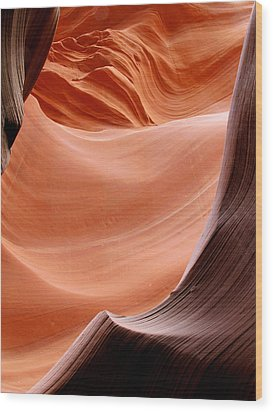 Psychedelic Art - Antelope Canyon Wood Print by Christine Till