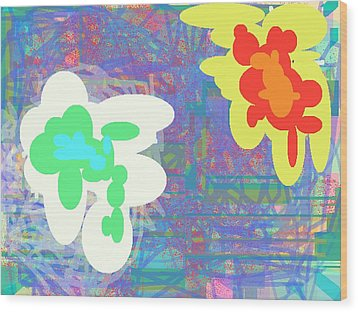 Psychedelic Drips Visit The Water Lilies Wood Print