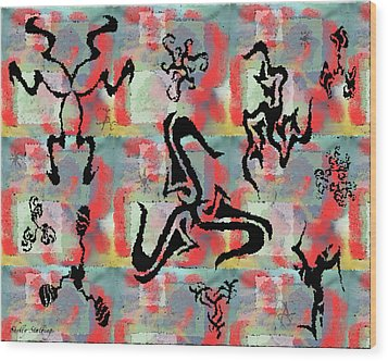 Psychedelic Pirouettes Wood Print by Shelly Stallings
