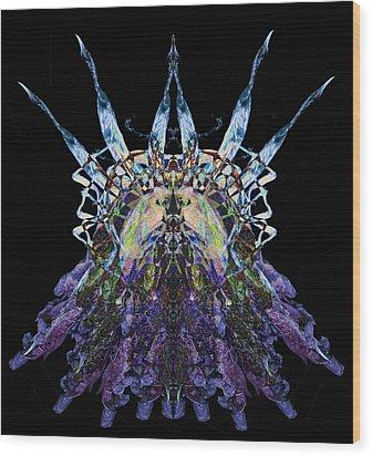 Psychedelic Spines Wood Print by David Kleinsasser
