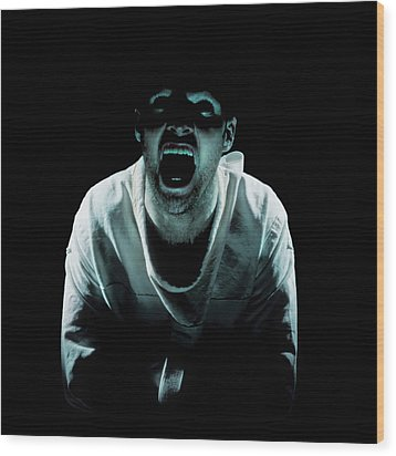 Psychiatric Patient Wood Print by Kevin Curtis