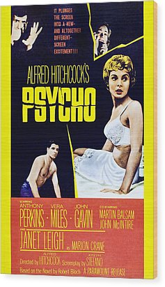 Psycho, Clockwise From Top Left Anthony Wood Print by Everett