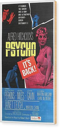 Psycho, Top Left Anthony Perkins Top Wood Print by Everett