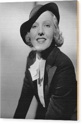 Public Hero 1, Jean Arthur, 1935 Wood Print by Everett