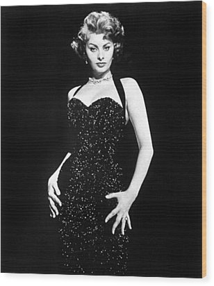 Publicity Shot Of Sophia Loren Used Wood Print by Everett
