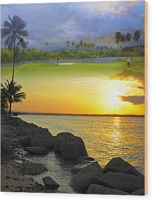 Puerto Rico Montage 3 Wood Print by Stephen Anderson