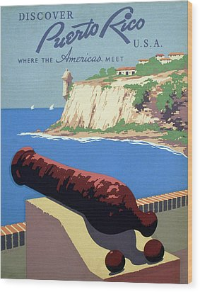 Puerto Rico. Poster Promoting Puerto Wood Print by Everett