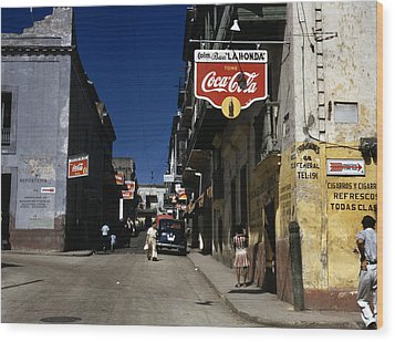 Puerto Rico. Street In San Juan, Puerto Wood Print by Everett