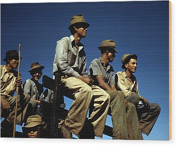 Puerto Rico. Sugar Cane Workers Resting Wood Print by Everett