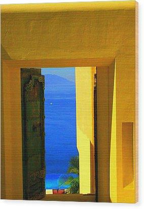 Puerto Vallarta Portal Wood Print by Randall Weidner
