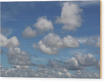 Puff Clouds Wood Print by Nick  Shirghio