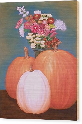 Pumpkin Wood Print by Amity Traylor
