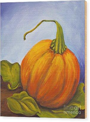 Pumpkin Wood Print by Nicole Okun