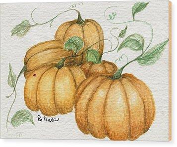 Pumpkin Time Wood Print