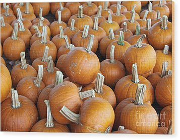Wood Print featuring the photograph Pumpkins by Denise Pohl