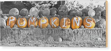 Pumpkins P U M P K I N S Bwsc Wood Print by James BO  Insogna