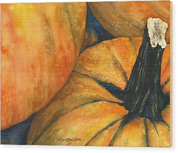 Punkin Wood Print by Casey Rasmussen White