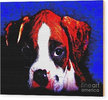 Pup1 Wood Print by Xn Tyler