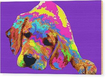 Puppy  Wood Print by Chandler  Douglas