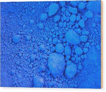 Pure Cobalt Powder Wood Print by G Fletcher