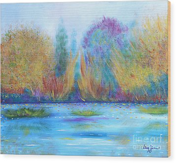 Wood Print featuring the painting Pure Harmony by Stacey Zimmerman