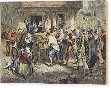 Puritans: Punishment, 1670s Wood Print by Granger