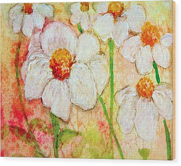 Purity Of White Flowers Wood Print by Ashleigh Dyan Bayer