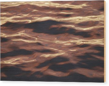 Purple Abstract Water Wood Print